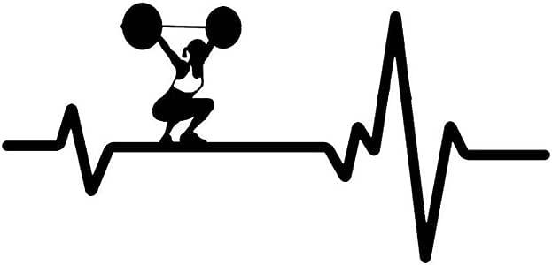 Keecam Car Sticker 15 77 5cm Personalized Heart Beat Line