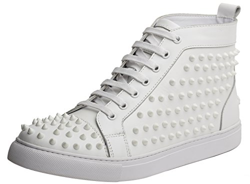 J75 by Jump Men's Zoo High-Top Fashion Sneaker White 9 D US by J75