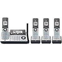 AT&T CLP99486 DECT 6.0 cordless phone with Bluetooth Connect to Cell, answering system with dual caller ID, silver with 4 handsets