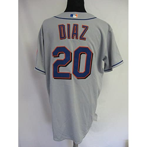 premium selection acf02 c1b1e chic 2006 New York Mets Victor Diaz #20 Game Issued Possibly ...