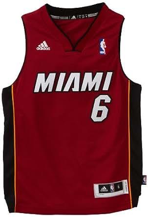 NBA Miami Heat LeBron James Swingman Alternate Youth Jersey, Maroon, Large