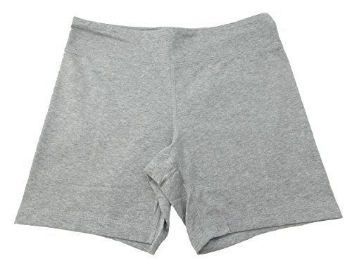 Danskin Now Womens Bike Shorts (Large, Medium Heather Grey)