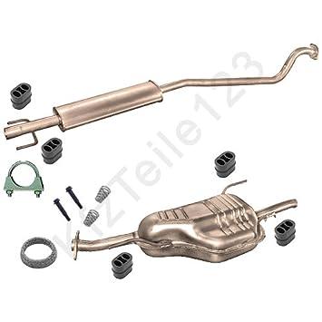 Schalldämpfer Anlage Opel Zafira 1,6 1,8 Auspuff