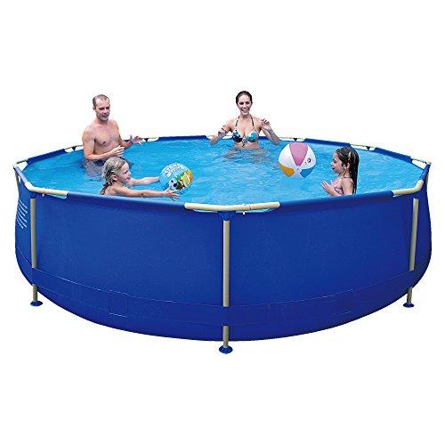 Jilong-6920388627009-Stahlrahmenbecken-Pool-Set-mit-Kartuschen-Filterpumpe-Durchmesser-360-x-76-cm-Sirocco-blau