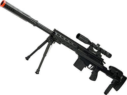 (Evike - Spring Powered Airsoft Sniper Rifle with Scope and Bipod - (72256))