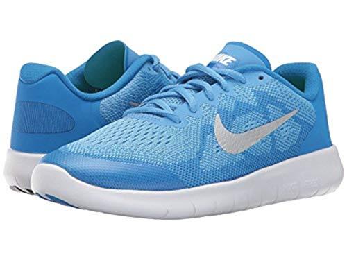 Nike Girls Free RN 2017 (GS) Running Shoe Blue