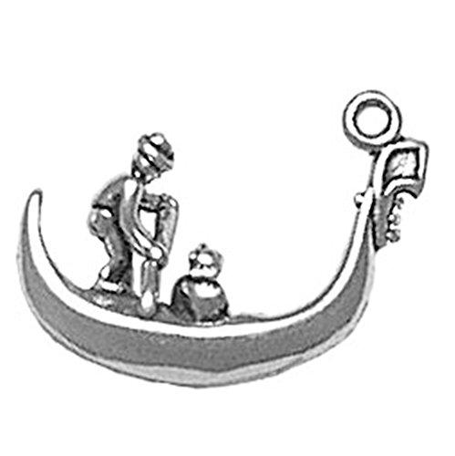 925 Sterling Silver Classic Italian Venice Venetian Gondola Boat Pendant Charm (Italian Charms Venice compare prices)