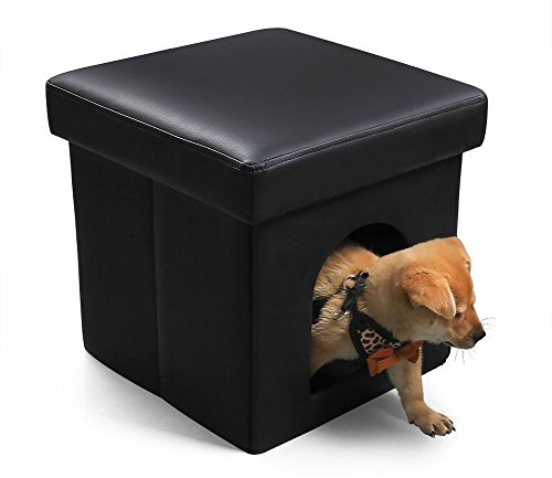 dekinmax-pet-bed-ottoman-cat-condo-with-leather-black-collapsible-pet-house-for-cat-small-dog