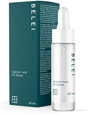 Amazon Brand - Belei - Salicylic Acid 2% Serum, 94.75% natural ingredients, vegan, 30 ml