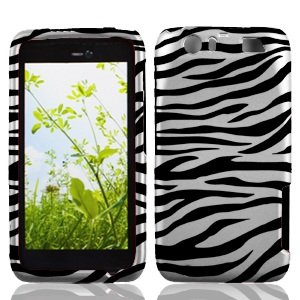 (Boundle Accessory for At&t Motorola Atrix 3 MB886 - Zebra Hard Case Protector Cover + Lf Stylus Pen +Lf Screen Wiper)