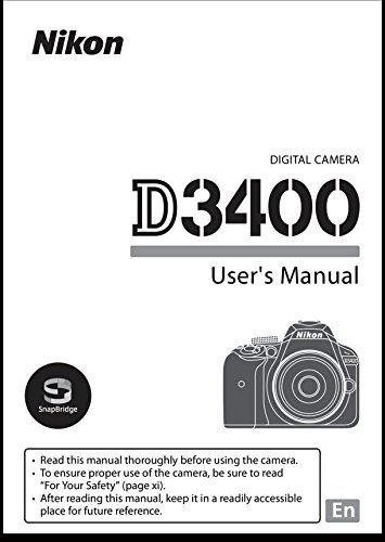 Nikon D3400 User's Reference Manual