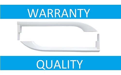 NEW 5304486359 Set / A Pair of WHITE Door Handles for Frigidaire Refrigerator -242059501 242059504 5304497105 5304504507 5304506469 by PrimeCo - 1 YEAR WARRANTY by Primeco