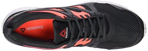 Reebok Run Supreme 2.0 - Zapatillas de running unisex Multicolor (Coal / Atomic Red / Ash Grey / White)