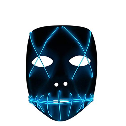Nuoka Costume Halloween Horror Scary Cosplay Light Therap Led Mask (Blue) ()