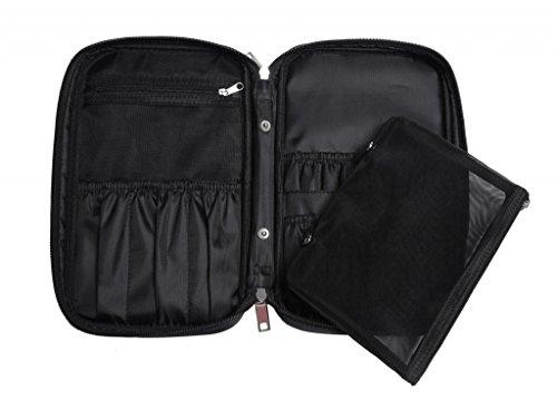 LOUISE MAELYS Multifunctional Makeup Brush Holder Organizer Bag Cosmetic Bag Case with Inner Mesh Bag for Travel (only Bag)