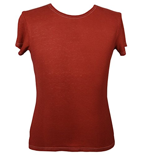 - Hemptopia Brick Red Women's Blank T-Shirt - Size: Large