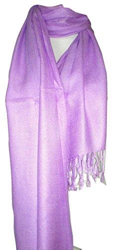 Premium Pashmina Shawl Wrap Scarf - Lilac Purple