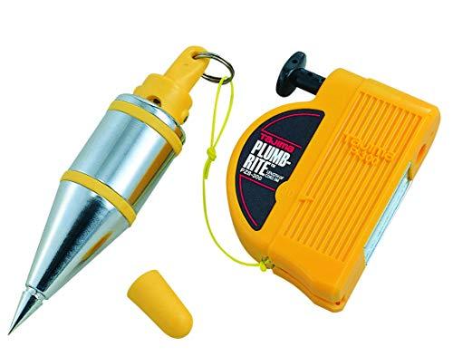 - TAJIMA Plumb Bob Setter - 10 oz (300g) Magnetic Plumb-Rite with 14.5 ft Auto Recoil Cord & Quick-Stabilizing Bob - PZB-300