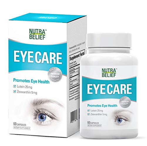 Eye Care | Support Eye Health | Lutein 25mg | Zeaxanthin 5mg | High Potency | No Sugar | Gluten Free | 60 Veggie Capsules | Eye Supplement