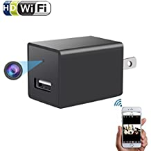 Wifi Wall Charger Spy Camera - 1080P HD P2P Wireless Wifi Video Camcorder,Home Security Nanny Pet Hidden Cam for IOS iPhone Android Phone APP Remote View,USB AC Plug Adapter Camera