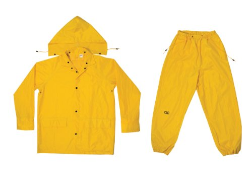 CLC Custom Leathercraft Rain Wear R1022X Yellow Polyester 3-Piece Rain Suit - 2XLarge by Custom Leathercraft