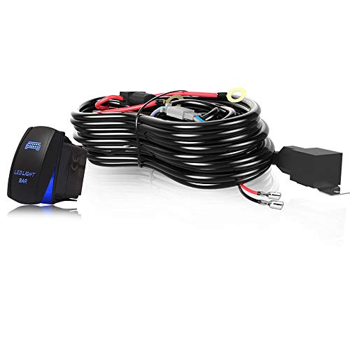 T-Former 3 LEAD LED Light Bar Wiring Harness Kit Fuse 40A Relay On-off Rocker Switch Waterproof for Driving Light Fog Light Work Light Arctic Cat Wildcat Can Am Polaris RZR S 900 1000 (Club Car Ds Electric To Gas Conversion)