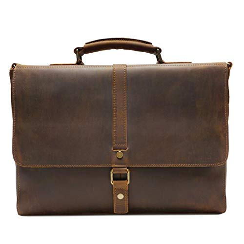 Shoulder For color Leather Office Yellow Laptop Macbook Simple Light Men Handbag Black Briefcase Bag Vintage Satchel Messenger vwOf8q