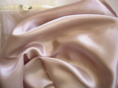 Neutral Pink Luxury 100% Silk Pillowcase for Beauty Sleep Qu