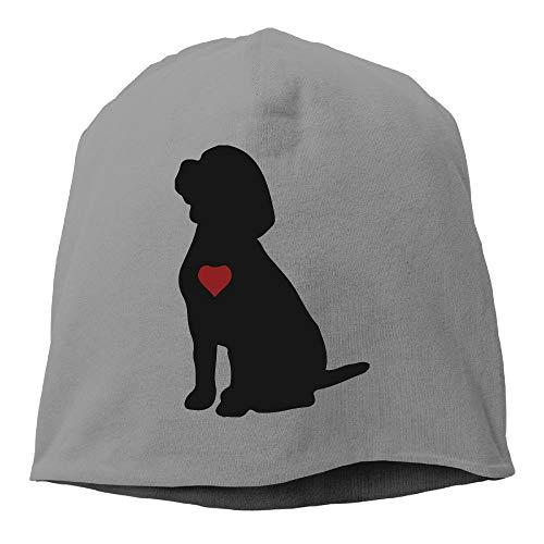 TLPM9LKMBM Beagle Puppy Dog Silhouette Beanie Skull Cap for Women and Men - Winter Warm Knit Hat ()