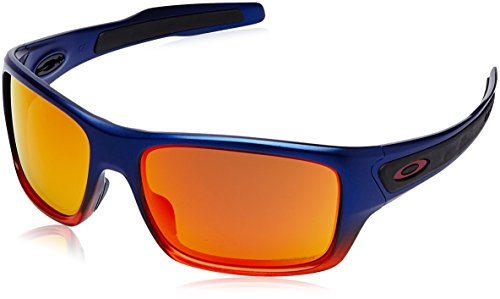 Oakley Men's Turbine Non-Polarized Iridium Rectangular Sunglasses, ORANGE POP FADE, 65.0 mm