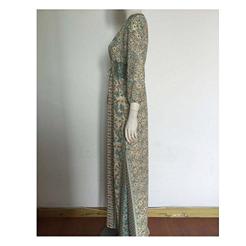 POSESHE Women's Solid V Neck Short Sleeve Plus Size Evening Party Maxi Dress