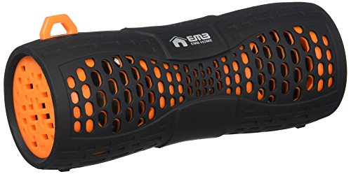 EMB ES900BT-X1 Water Resistant Super Loud Portable Bluetooth Speaker - Black On Orange