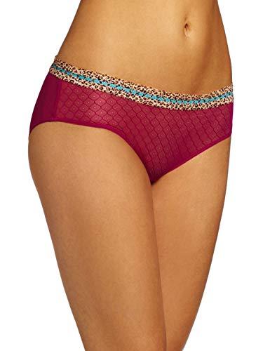 Jezebel Women's Tease Hipster Panty Pantie, Passion Fruit, Medium