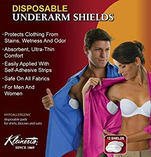 Kleinert's Disposable Peel & Stick Absorbent Underarm Sweat Pads. 12 PADS (6 Pair) Style # MW-4900. Measures 5