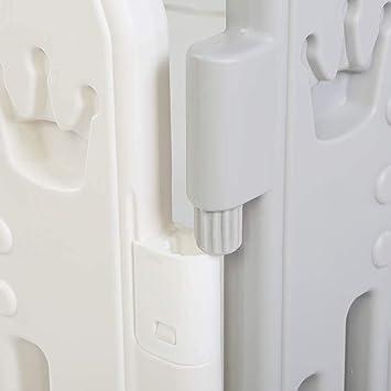 EBTOOLS Recinto per Bambini Barriera di Sicurezza,Sicurezza Barriera Pieghevole,Box per Bambini,Cancelletto Recinto con 14 Grigio Pannelli,con Porta Plastica Estensibile