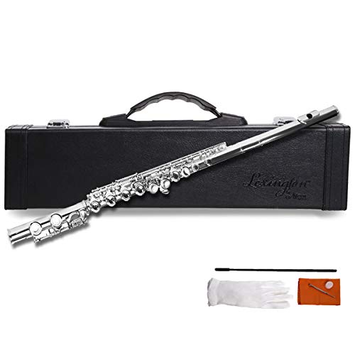 (Lexington C Flute Closed Hole German Nickel for Student with Full Accessories Included Premium Hard)