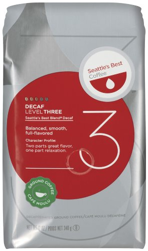 Seattle's Best Coffee Decaffeinated Level 3, 12 oz (Seattle's Best Decaf Coffee)