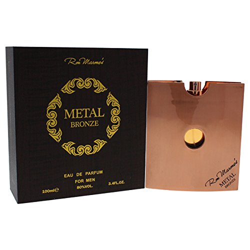 Ron Marones Metal Bronze Eau de Parfum Spray for Men, 3.4 Ounce