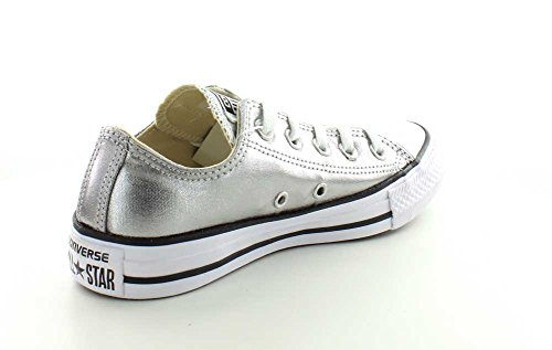 Converse Mens Chuck Taylor All Star Seizoengebonden Ox Gun Metal / White-black