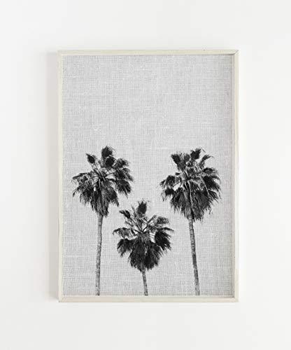 (Arvier Printable Art Tropical Wall Art Beach Print Palm Tree Prints Black and White Grey Palm Tree Print Modern Wall PrintPalm Wall Decor Framed Wall Art)