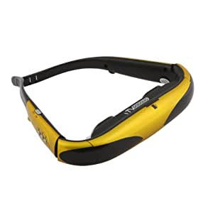 ITV Goggles ITG-VIDIX Video Glass with 50-Inch Virtual Screen, 2 GB Built-in Memory and MicroSD Slot, Yellow