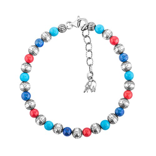 American West - Multicolor Beaded Native Pearl Beaded Bracelet- Small to Large (Average) (Pearl American Bracelet Pearl)