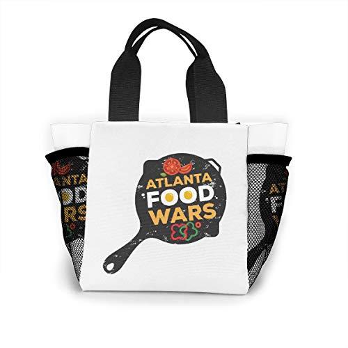 Fjb11 Lunch Handbag with Water Bottle Holder for Boys, Atlanta Food Wars Printed Multipurpose Snack, Picnic Tote Bag ()