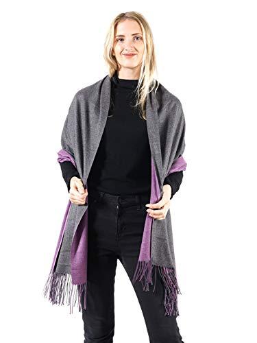 DEEBAI Women's Soft Cashmere Feel Pashmina Shawl Wraps Large Warm Blanket Light Scarf