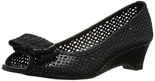 VANELi Women's Brinly Wedge Sandal, Black Perfed Nappa/Black Summer VIP, 9.5 N US by VANELi