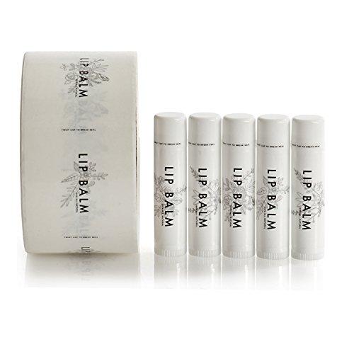 120 Pack - Transparent Vinyl Lip Balm Labels with Twist Seal Design, 5 Unique Designs, Chapstick Stickers, 120 Labels per Roll, Excellent for Lip Balm, Homemade Chapstick, Lip Balm Tubes - Label Tube