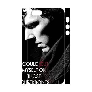 J-LV-F Cell phone Protection Cover 3D Case Sherlock For Iphone 5,5S