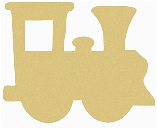 Train Cutout Unfinished Wood Kids Cut Out Christmas/Birthday/Nursery Door Hanger MDF Shape Canvas Style 1 (12