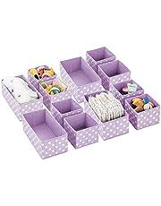 mDesign Cajas almacenaje – Cajas almacenaje Ropa, Toallas, sábanas – Ideales Cajas organizadoras para un Orden óptimo