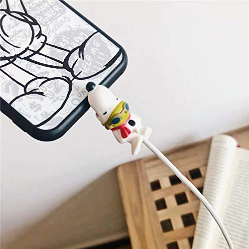 Cute Anime Bite Cable Protector - 4 PCS (Snoopy Suit) Charger Pet,Cable Buddy(Compatible with iPhone Cords Only),Gift Fit Friends & Children